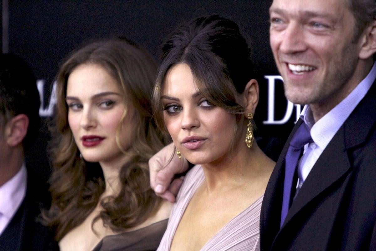 "Natalie Portman, Mila Kunis, and Vincent Cassel attend the New York Premiere of ""Black Swan"""