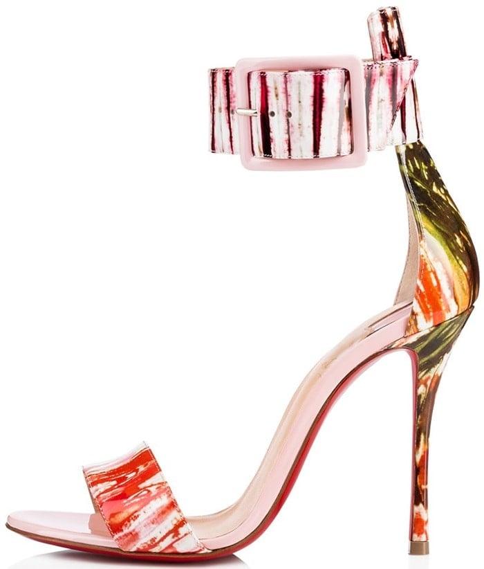 Pompadour Paint-Splattered 'Blade Runana' Sandals