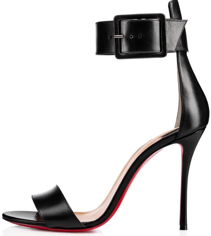 Black Leather 'Blade Runana' Sandals