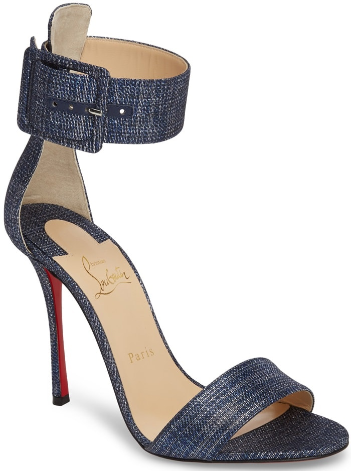 Denim 'Blade Runana' Sandals