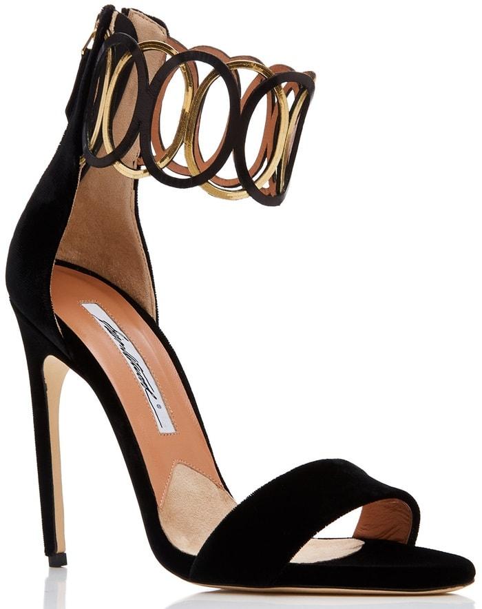 Ankle-Embelished 'Jiulia' Velvet Sandals
