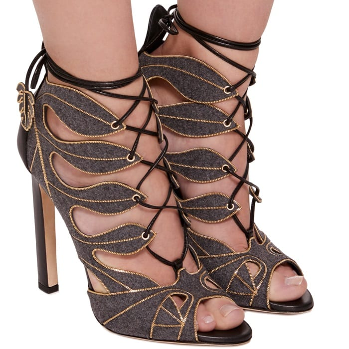 Cut-Out Detail 'Herica' Ankle Sandals