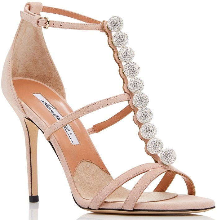 Nude Kid Suede 'Keila' Crystal Sandals