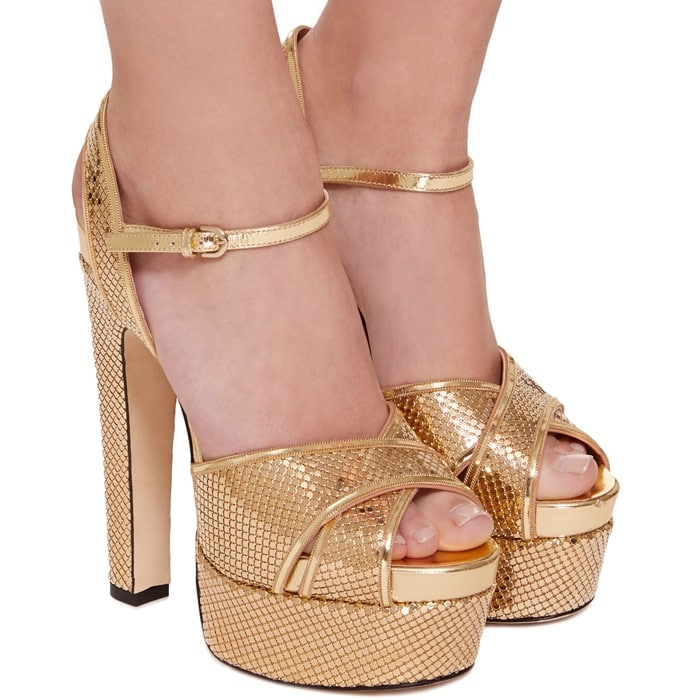 Specchio Leather 'Madison' Platform Sandals