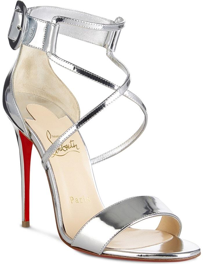 Specchio Leather 'Choca' Red Sole Sandals