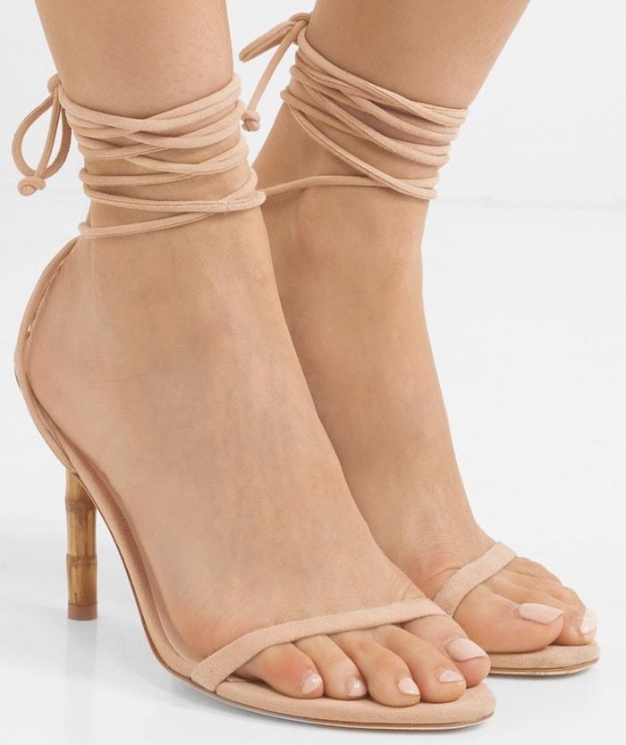 Sculpted Bamboo-Effect Luna Sandals