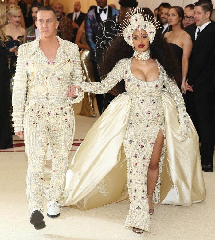 f26829450 Cardi B and Jeremy Scott at the 2018 Met Gala held at the Metropolitan  Museum of