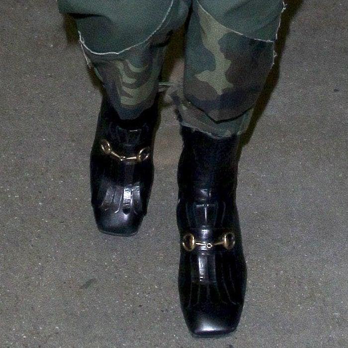 Gucci 'Polly' kiltie horsebit ankle boots as worn by Catherine Zeta-Jones.