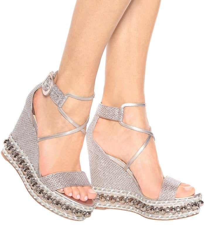 cd8b941a382 Christian Louboutin s glittering Chocazeppa sandals have been inspired by  iconic espadrilles from the 1970s