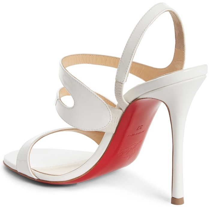 White luxe leather sandals in strappy silhouette