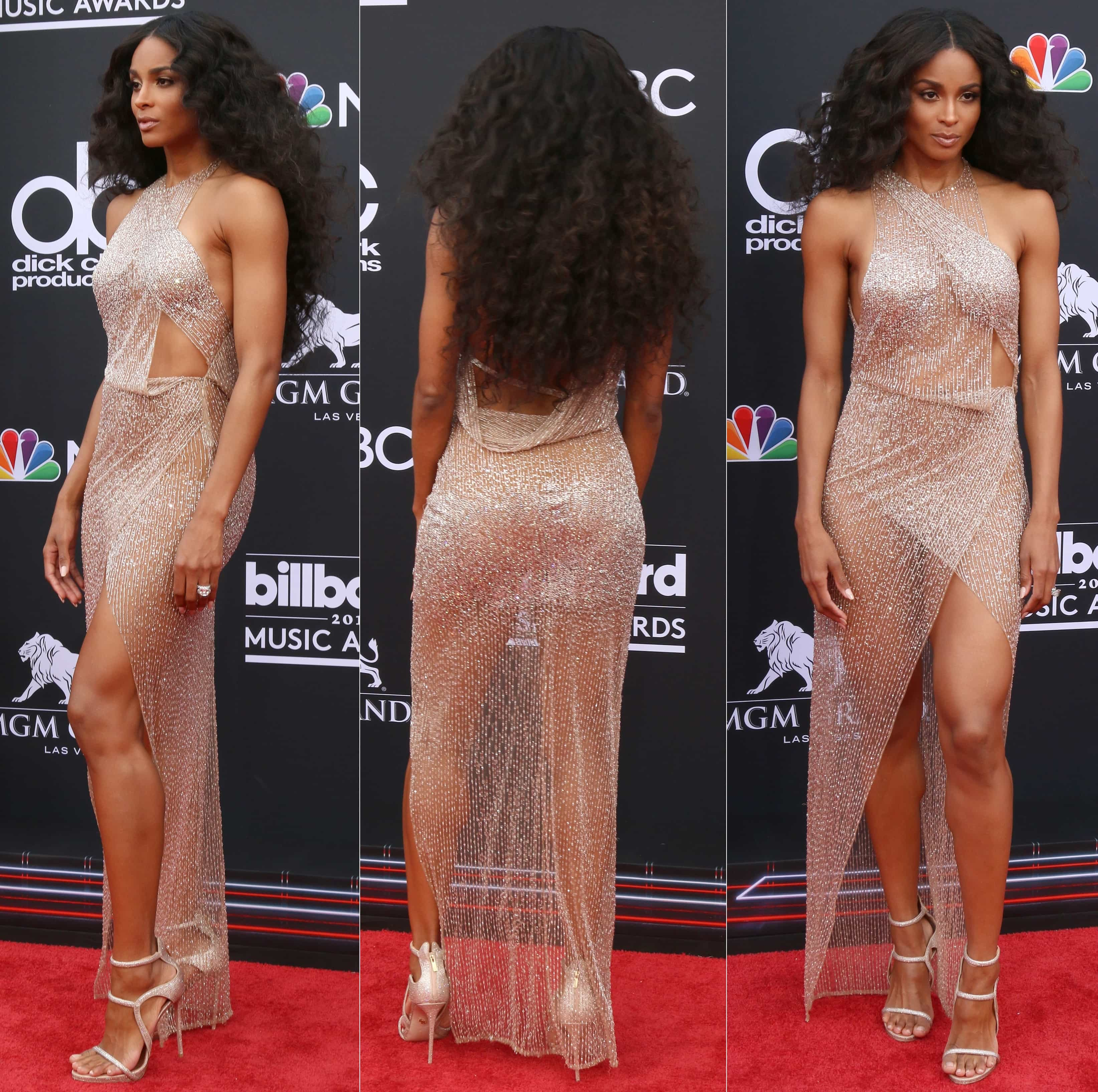 Ciara showed off her invisible underwear by Commando on the red carpet