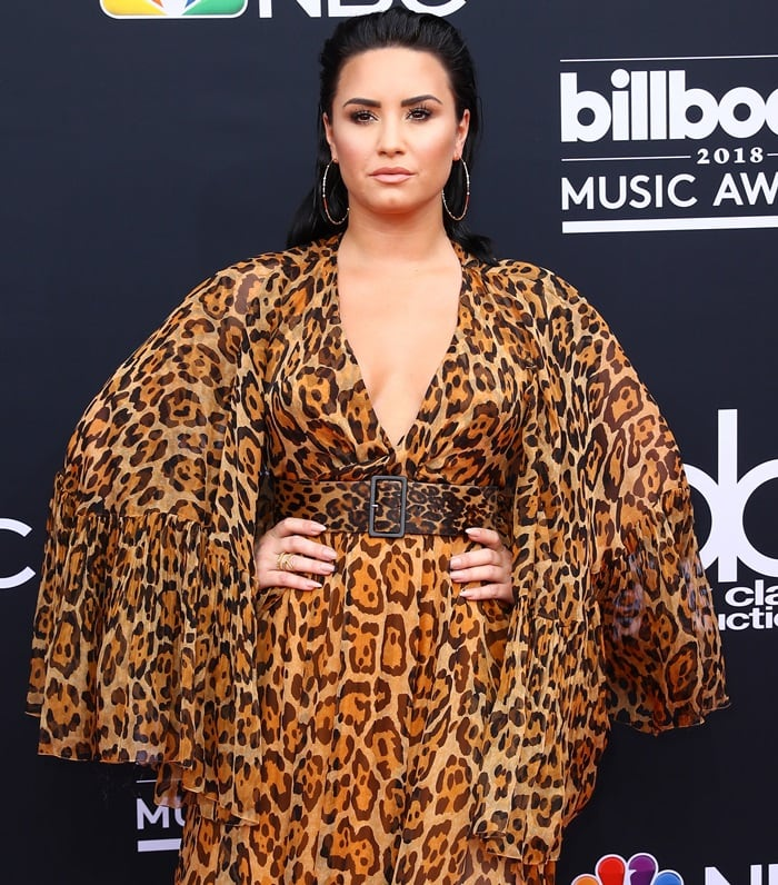 Demi Lovato at the 2018 Billboard Music Awards held at the MGM Grand Garden Arena in Las Vegas on May 20, 2018