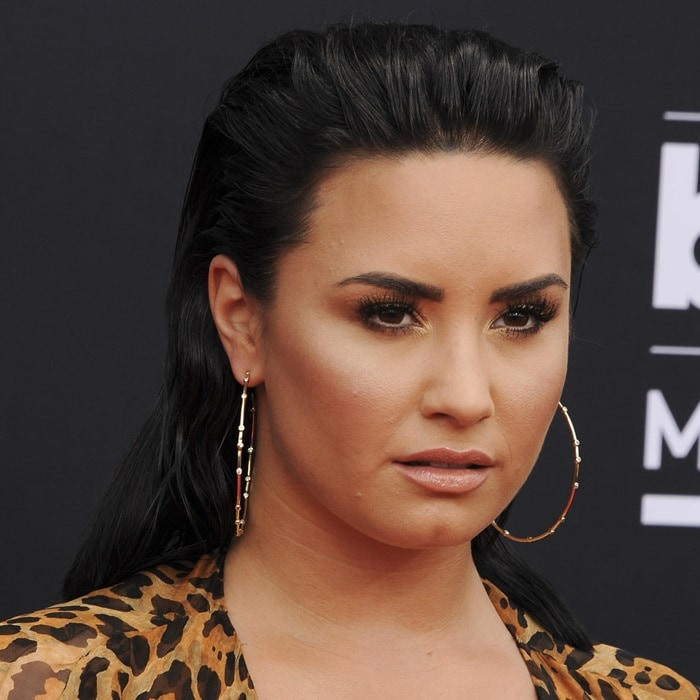 Demi Lovato's large circle hoop earrings from Melinda Maria Jewelry