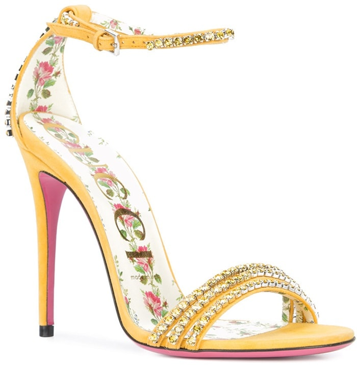 Yellow Ilse Crystal Embellished Sandals