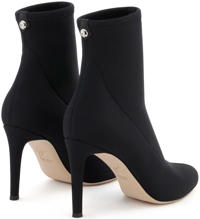 Black Neoprene 'Celeste' Boots