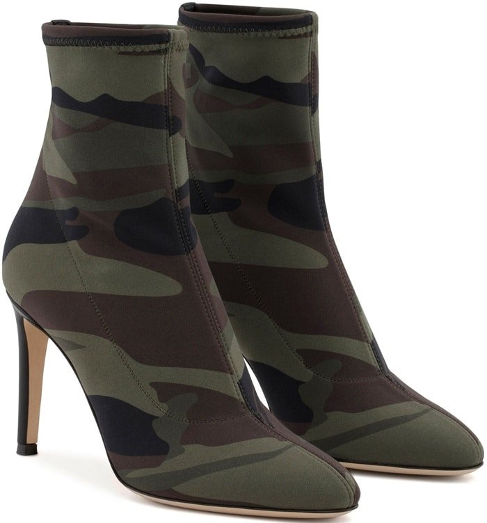 Camouflage Neoprene 'Celeste' Boots