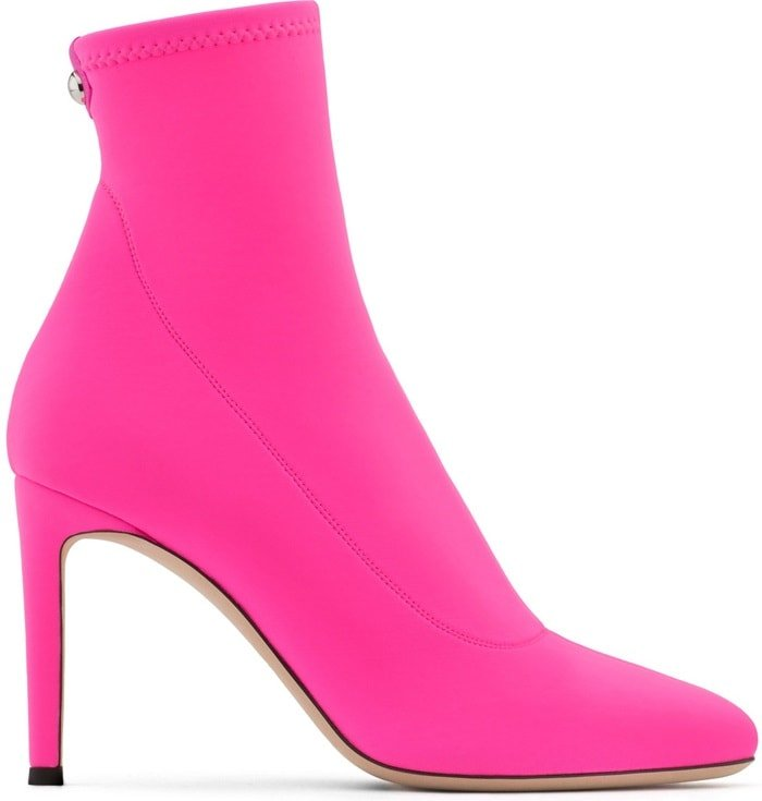 Pink Neoprene 'Celeste' Boots