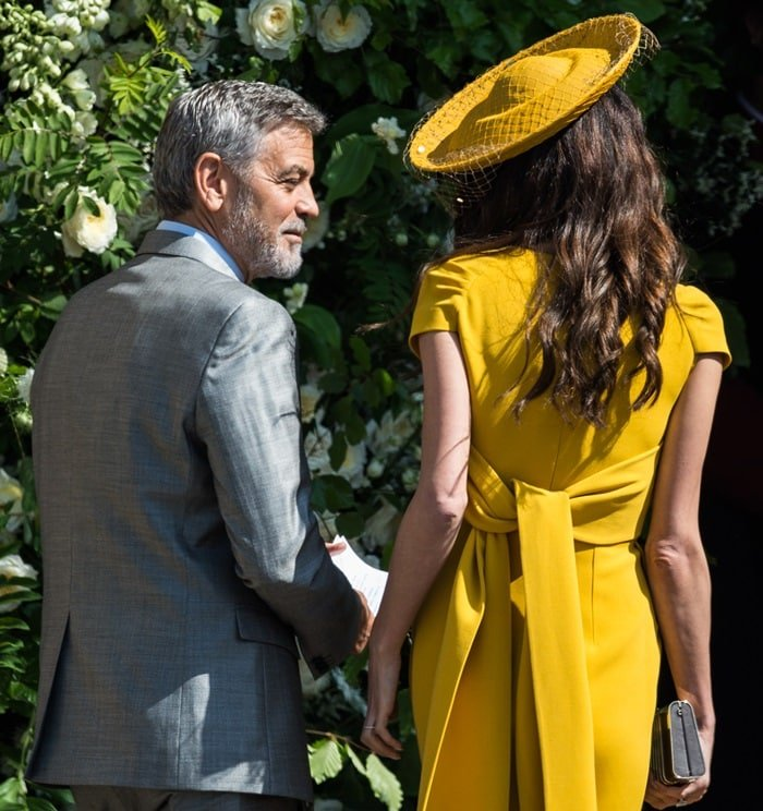 George Clooney and Amal Clooney arrive for the Royal Wedding