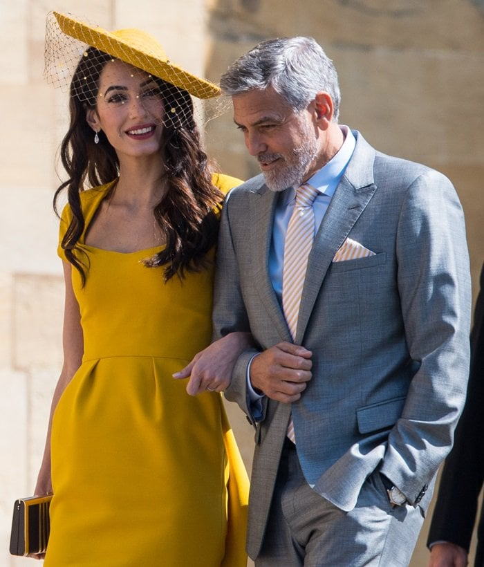 George Clooney wore a two-piece Armani suit