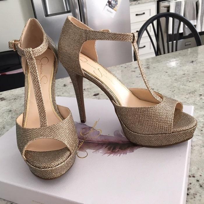 Jessica Simpson Bansi Open Toe High Heels