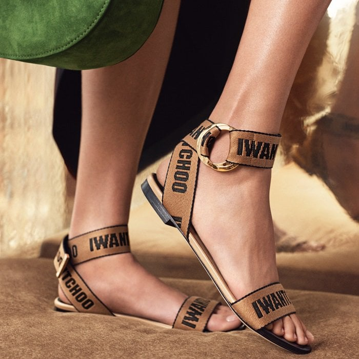50f536229bc IWANTCHOO Logo-Woven Canvas and Leather Pumps and Sandals