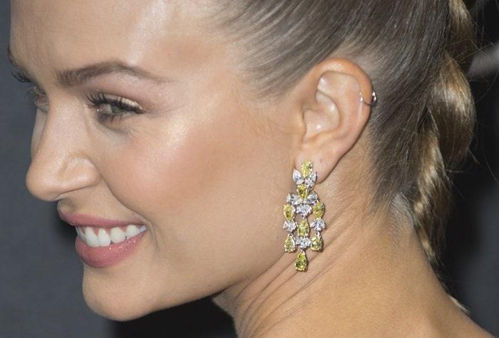 Danish model Josephine Skriver dazzled in jewelry by Chopard