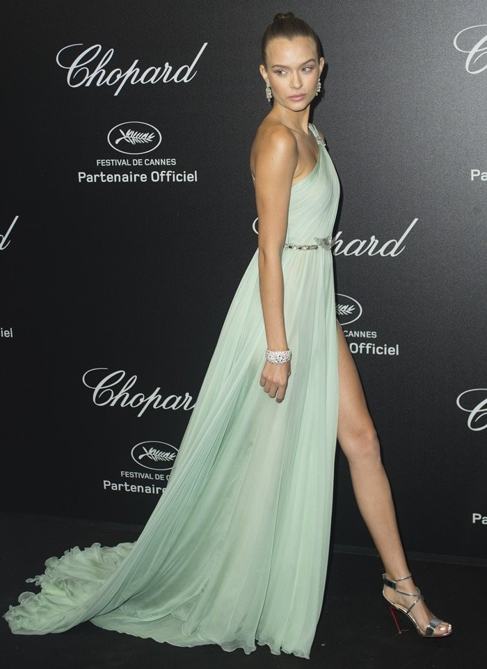 Josephine Skriver attendsChopard's Secret Night during Cannes Film Festival on May 12, 2018