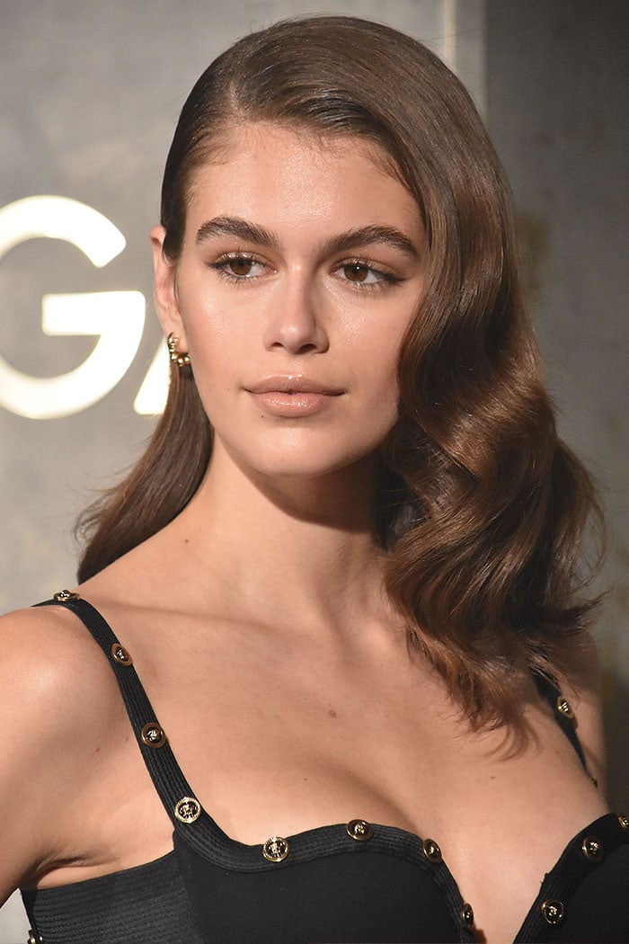 Kaia Gerber starring in the launch of the Omega Tresor watch held in Kraftwerk in Berlin, Germany, on May 2, 2018.