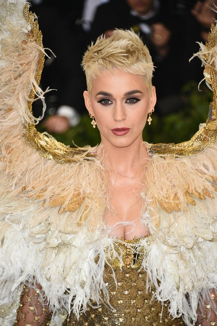 Katy Perry at the 2018 Met Gala held at the Metropolitan Museum of Art