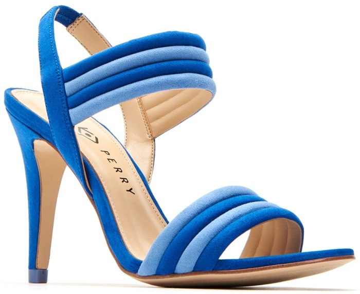 Blue Bright and Bold Alexxia Suede Strappy Sandals