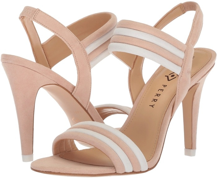Blush Nude Bright and Bold Alexxia Suede Strappy Sandals