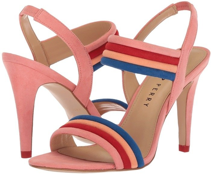 Pop Pink Bright and Bold Alexxia Suede Strappy Sandals