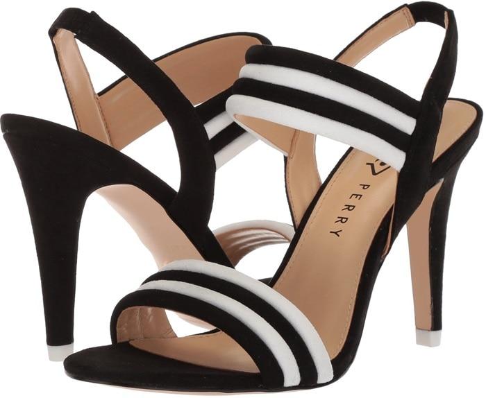 Black Bright and Bold Alexxia Suede Strappy Sandals