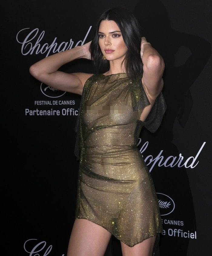 Kendall Jenner'sAlexandre Vauthier Fall 2016 Couture mesh dress