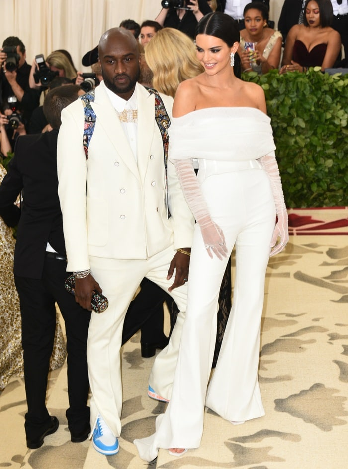 Virgil Abloh and Kendall Jennerat the 2018 Met Gala