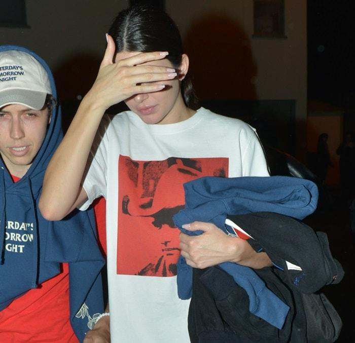 Kendall Jenner's Calvin Klein 205W39NYC x Andy Warhol Foundation 'Dennis Hopper' T-shirt