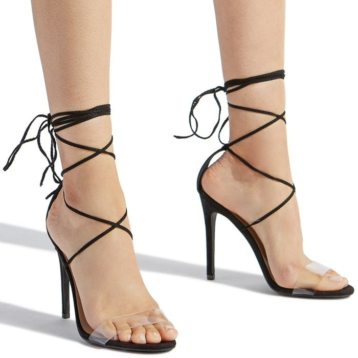 Ankle Wrapped Heeled Sandals