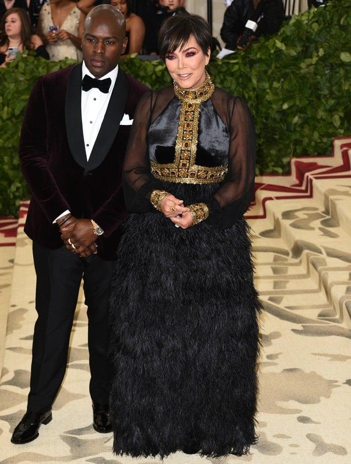 Kris Jenner and Corey Gamble at the 2018 Met Gala held at the Metropolitan Museum of Art