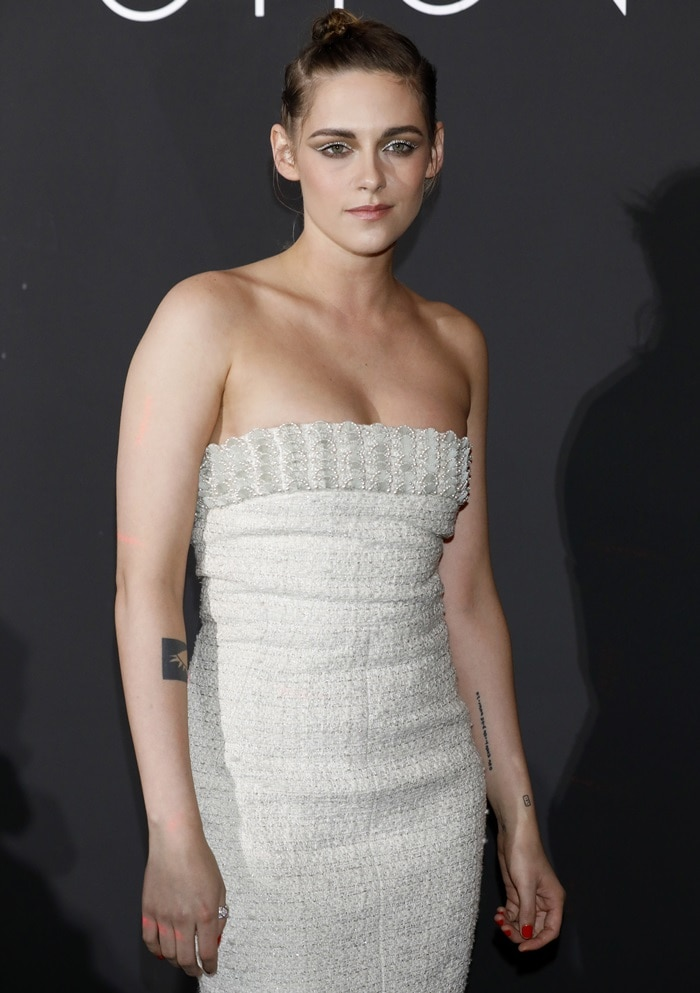 Kristen Stewart made her entrance in Chanel at the Women In Motion dinner