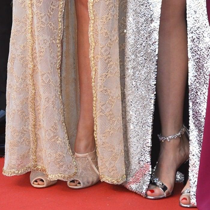 Lea Seydoux and Kristen Stewart showing off their feet in Cannes