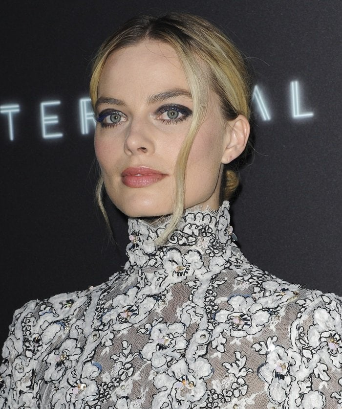 Margot Robbie at the premiere of her new movie 'Terminal'