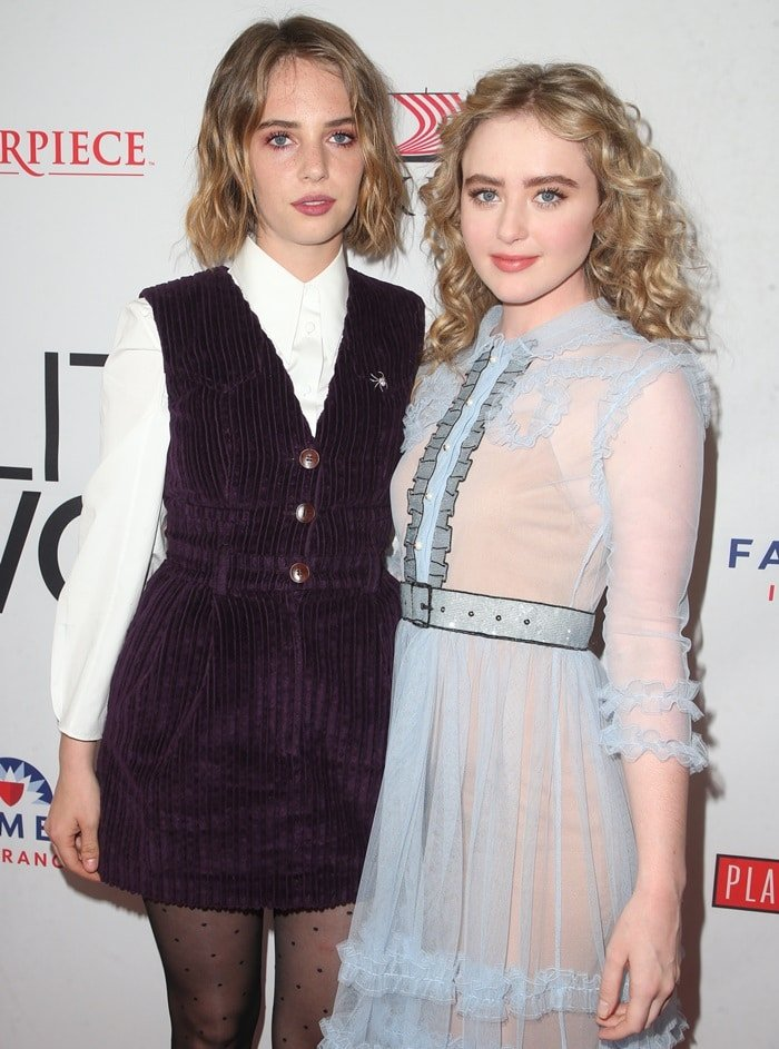 """Maya Hawke and Kathryn Newton at a promotional event for""""Little Women"""""""