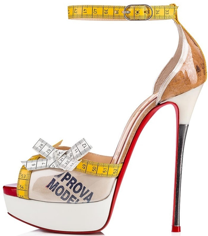 13a293c35d71 Metricathy and Measuring Tape Pumps and Sandals by Louboutin