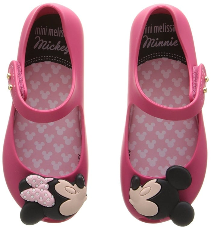 Toddler Mary Jane Shoes With Mickey and Minnie Appliques