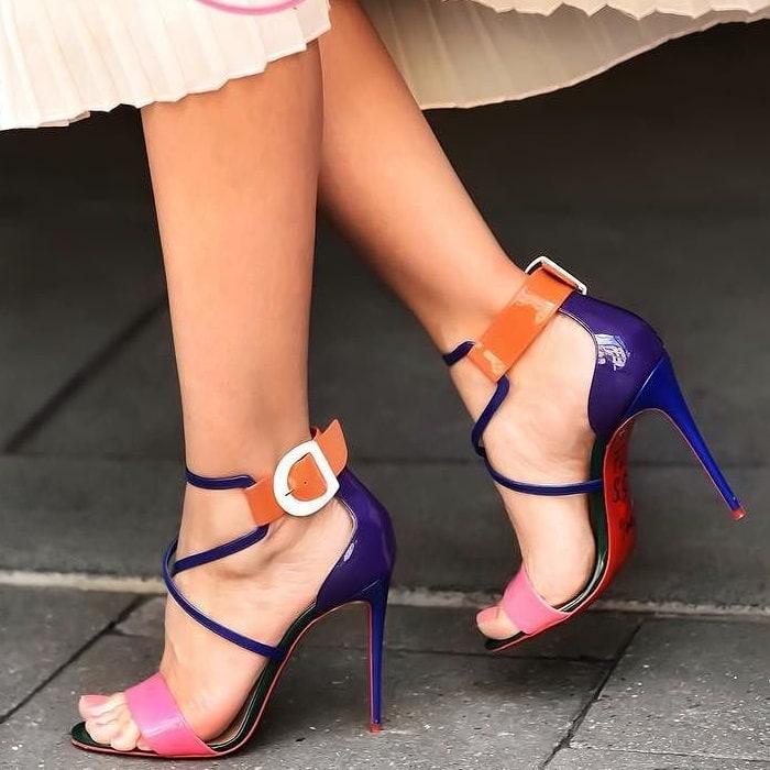 Pink/Orange/White Choca Red Sole Sandals