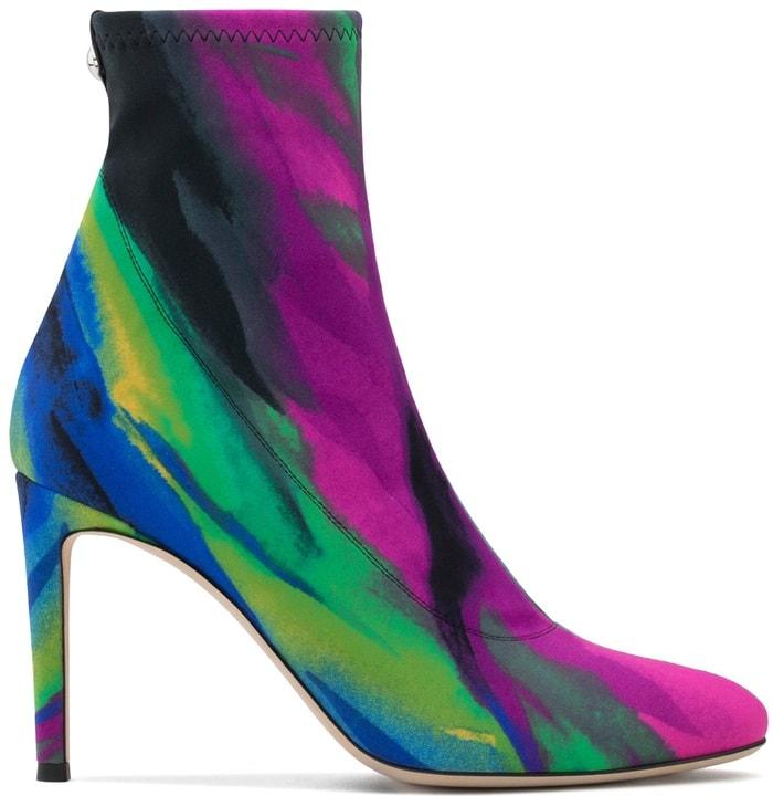 Multicolour Lycra Celeste Boots