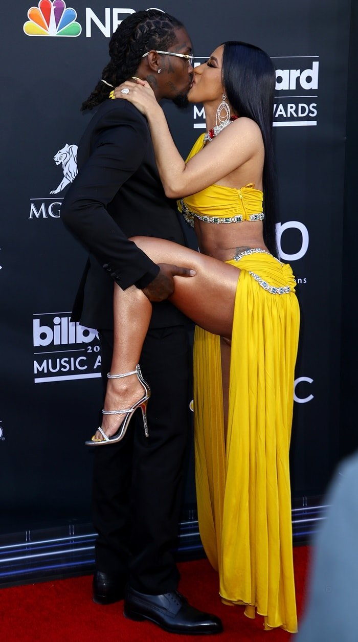 Cardi B and Offset showed off their love on the red carpet at the 2019 Billboard Music Awards