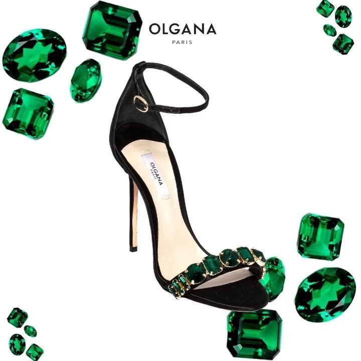 Olgana Paris 'Delicate' Jeweled Ankle-Strap Sandals