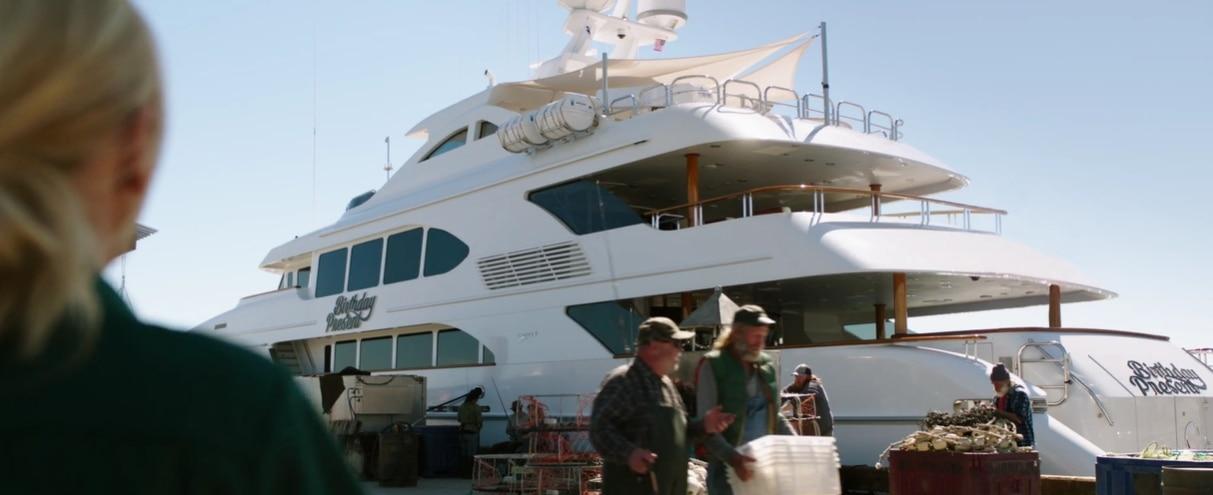 The 50m/164ft motor yacht 'Aspen Alternative' stars in Overboard as superyacht 'Birthday Present'