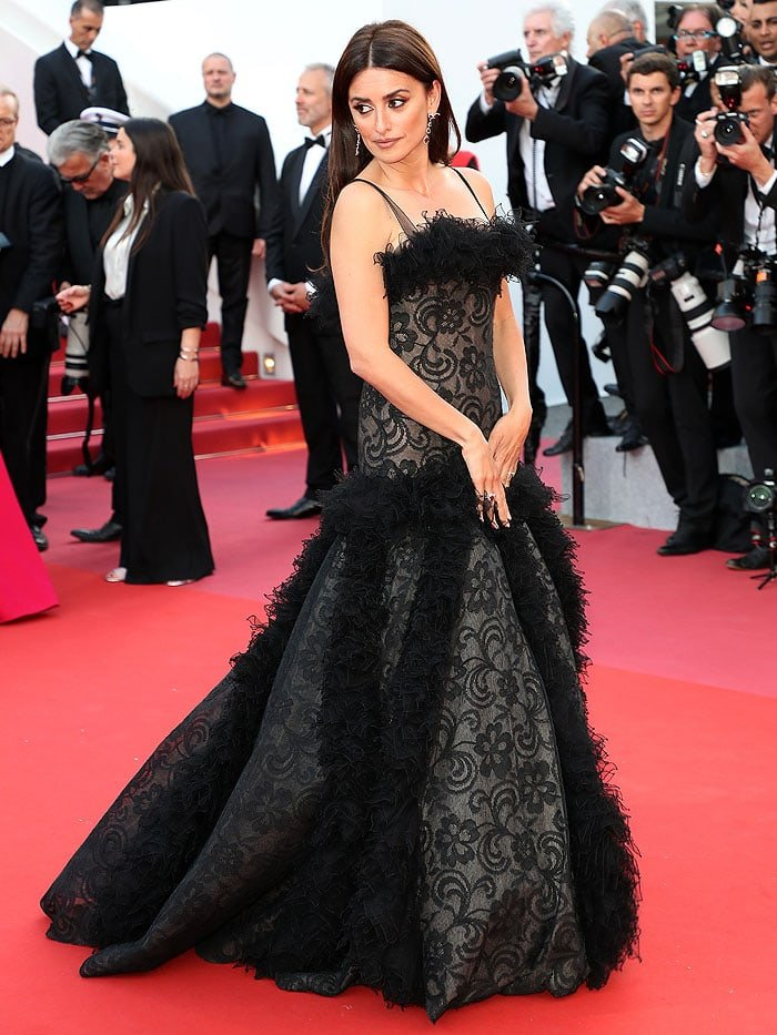Penelope Cruz in a vintage Chanel gown at the 2018 Cannes Film Festival Opening Ceremony.
